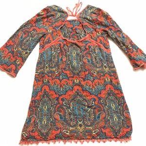 Free People boho bell sleeve tunic size 0